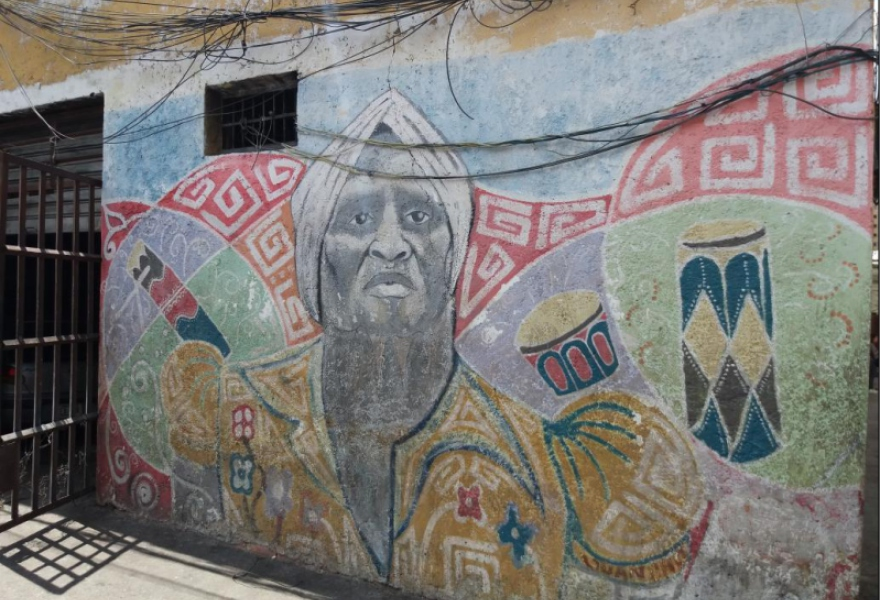 "Mural from the ""Marín, Guaguanco of Colours"" project. (Ricardo Vaz)"