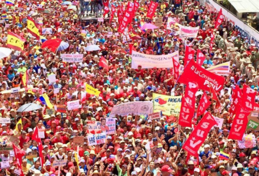 Chavista march in Apure State (PSUV)