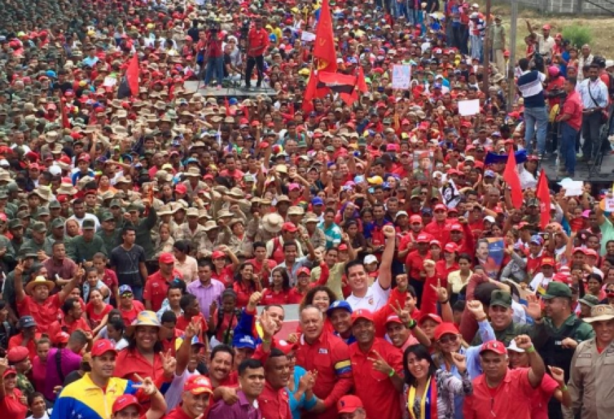 Chavista march in Cojedes State (PSUV)