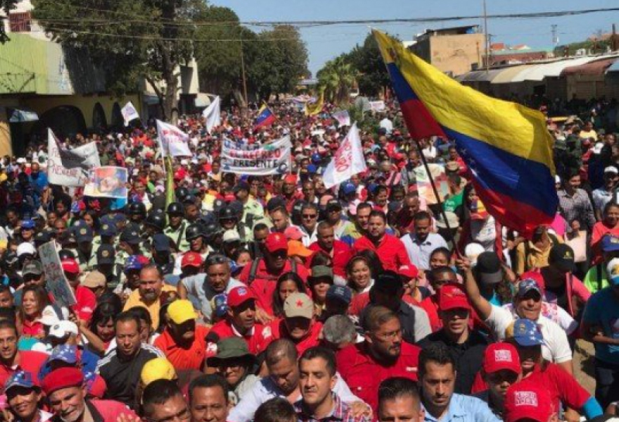 Chavista march in Falcon State (PSUV)