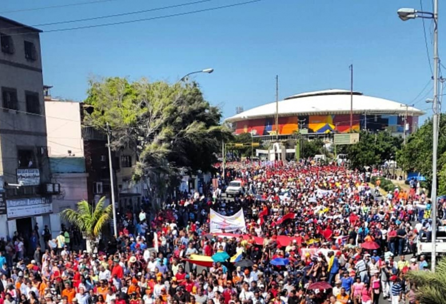 Chavista march in Vargas State (PSUV)