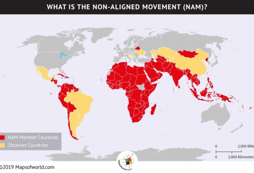 NAM member nations. (Mapsoftheworld.com)