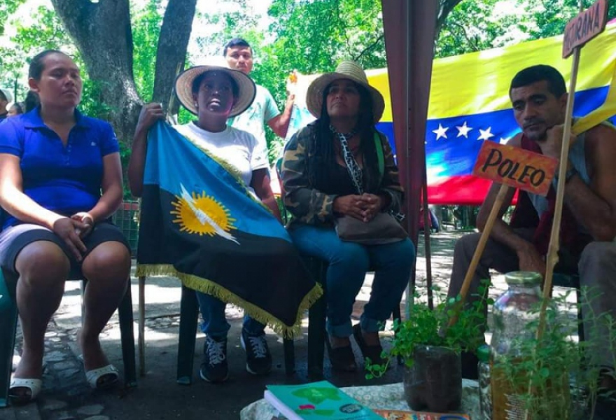 Campesinos demand that the Venezuelan Land Institute decide in their favor on several land disputes. (@Lucha_Campesina)