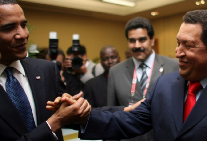 """I want to be your friend,"" President Chavez told Obama after being approached by him before the start of the Summit."