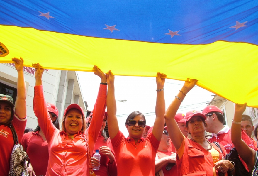 Celebrating April 13 in Merida state (Tamara Pearson/Venezuelanalysis.com)