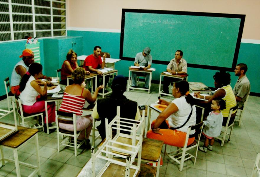 The 13 Abril communal council in Caracas's Barrio 23 Enero (Silvia Leindecker)
