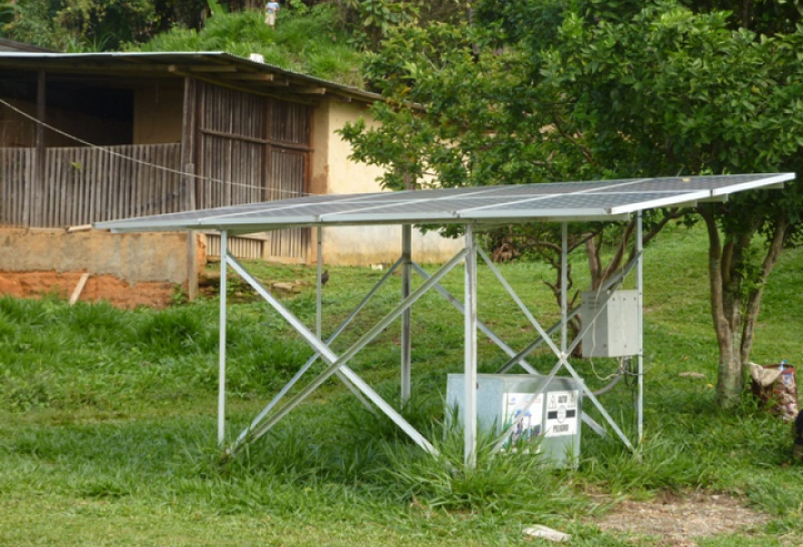 A solar system for an adobe-walled home