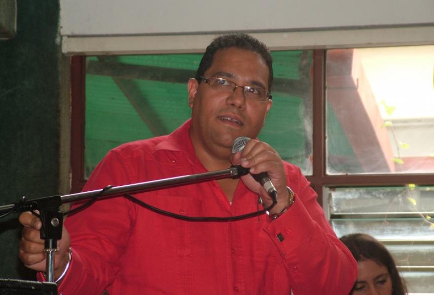 Julio Aleman, national assembly legislator (Tamara Pearson/Venezuelanalysis.com)