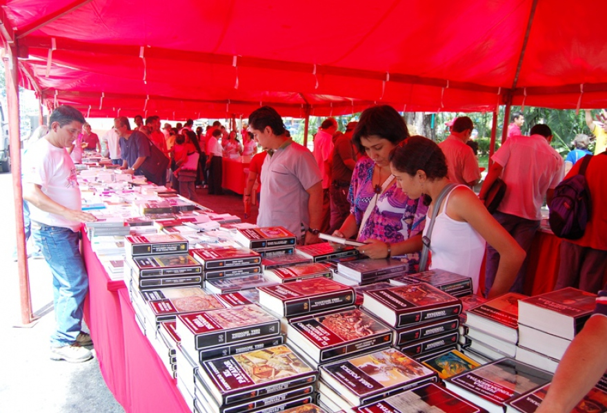 The national books festival, where state funded publishers sell books at highly affordable prices (PSUV)