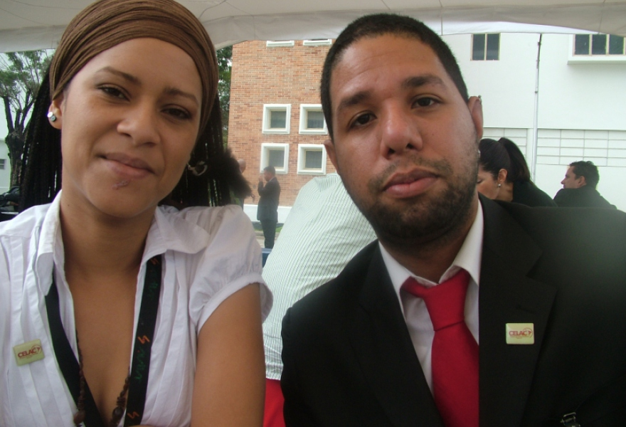 Llafrancis Colina (Left) and Augusto Melero of Avila TV  (Tamara Pearson / Venezuelanalysis.com)