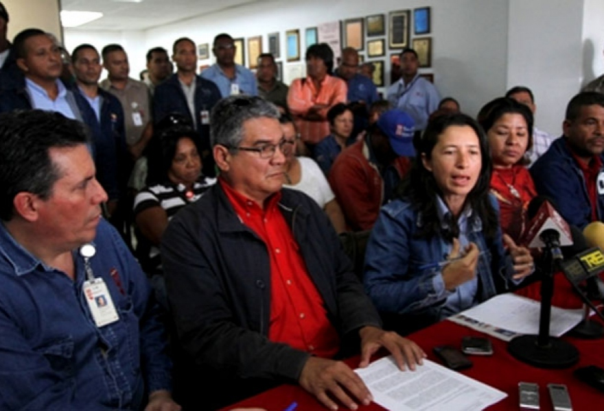 The press conference announcing the formation of the Patriotic Collectives of Popular Revolutionary Resistance in Guayana, February 2012 (Tribuna Popular)