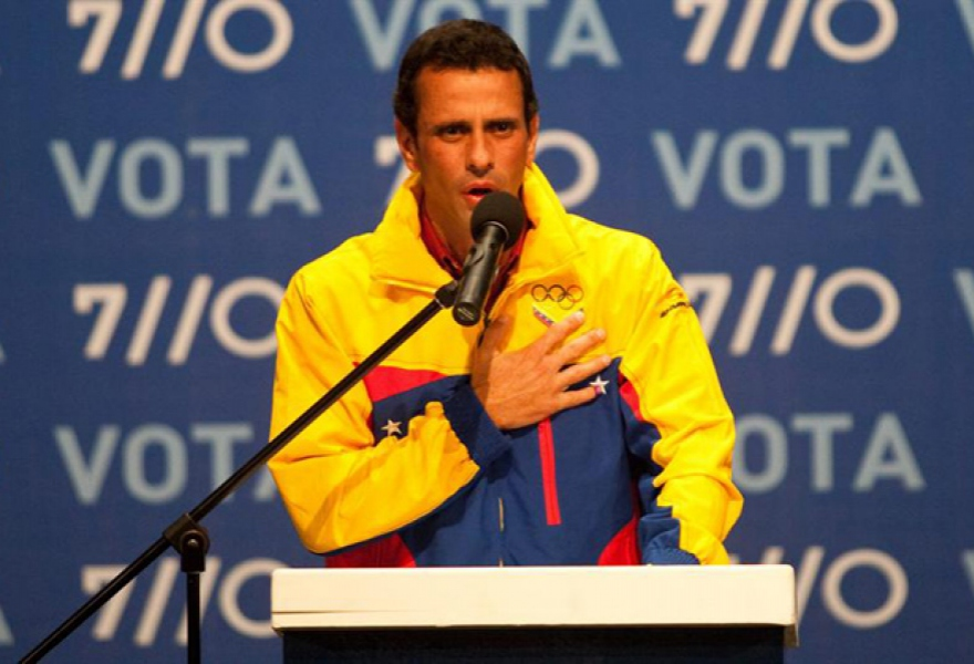 Opposition candidate Henrique Capriles Radonski recognised his election defeat (Miguel Gutiérrez / EFE)