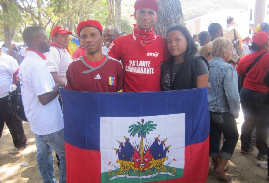 Haitian solidarity activists (Ewan Robertson / Venezuelanalysis.com)