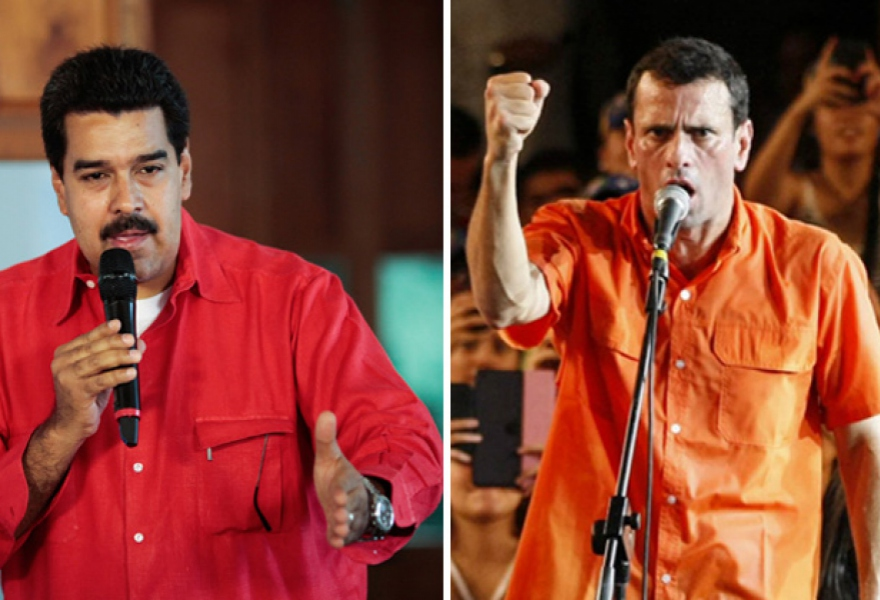 Interim president Nicolas Maduro (left), and opposition presidential candidate Henrique Capriles (right) (agencies/Noticias24)