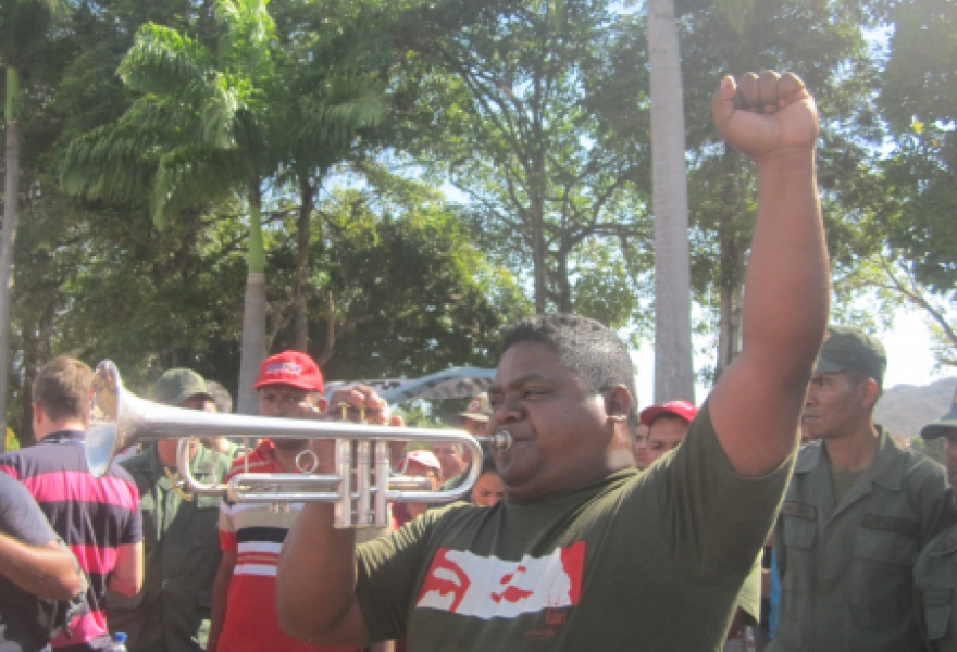 Mario Escalona, a trumpet player and community council activist from Yaracuy (Anabel  Izarra / Venezuelanalysis.com)