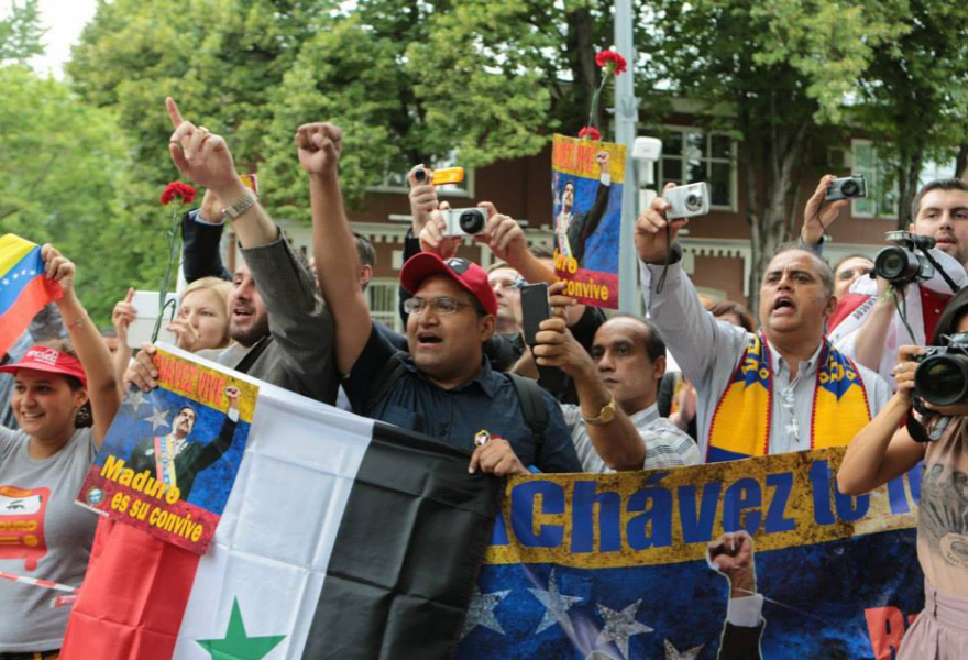 At the inauguration of Hugo Chavez street in Moscow (Prensa Presidencial)