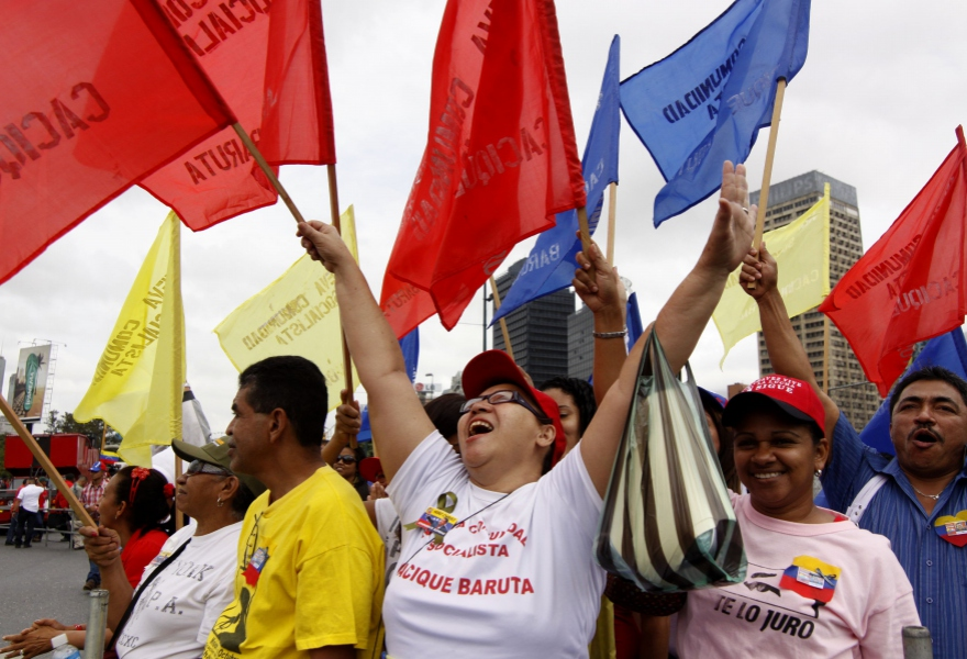 The Chavista rally on Saturday (Minci)