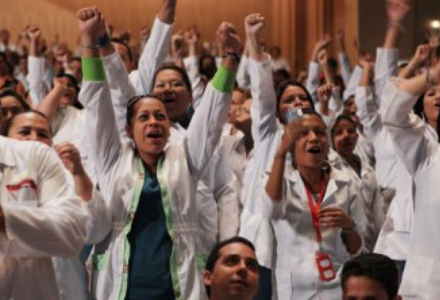 The February 2012 graduation of the first wave of community doctors, of which there were over 8000 in total (AVN)