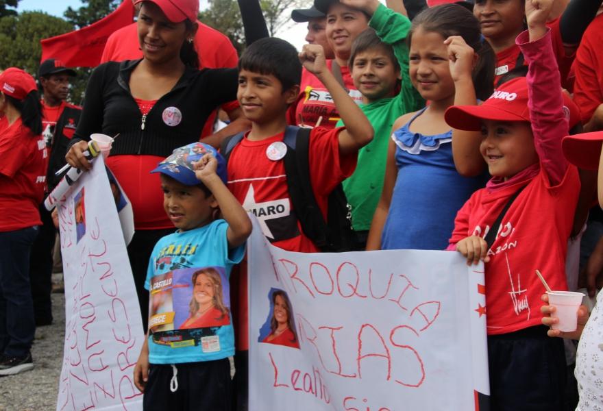 PSUV rally in Merida on Thursday (Ryan Mallett-Outtrim/Venezuelanalysis)