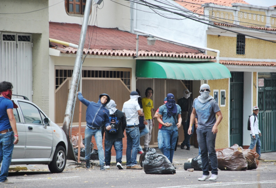 Protesters in Tachira (AVN)