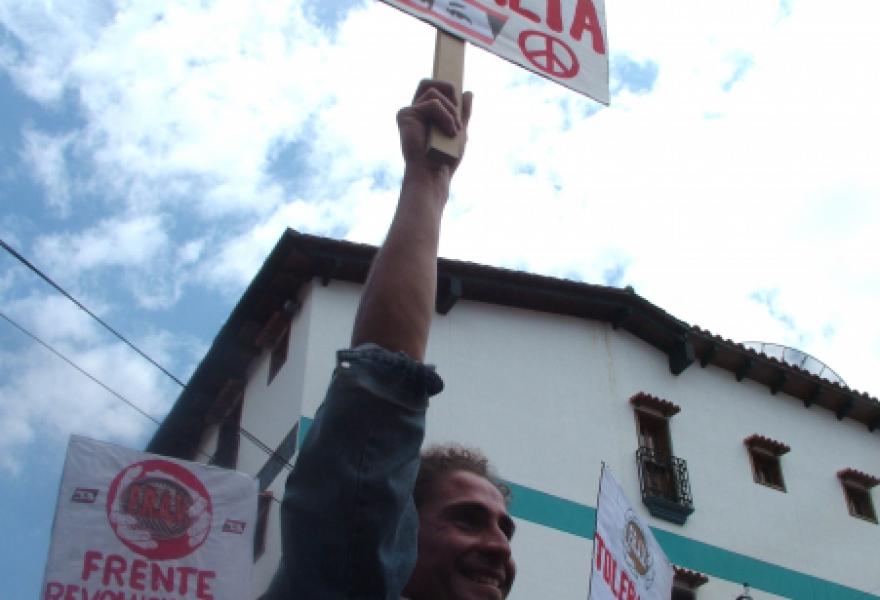 """No more violence."" (Tamara Pearson/Venezuelanalysis)"