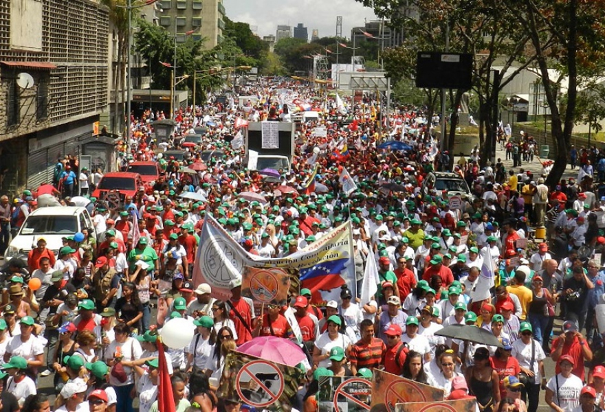 Part of the crowd during the march for peace on Saturday (D'valoiz Ojeda / Gobierno del Distrito Capital)