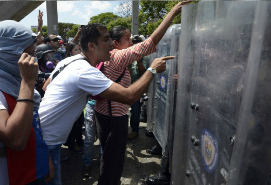 Opposition protesters last week (Getty images)