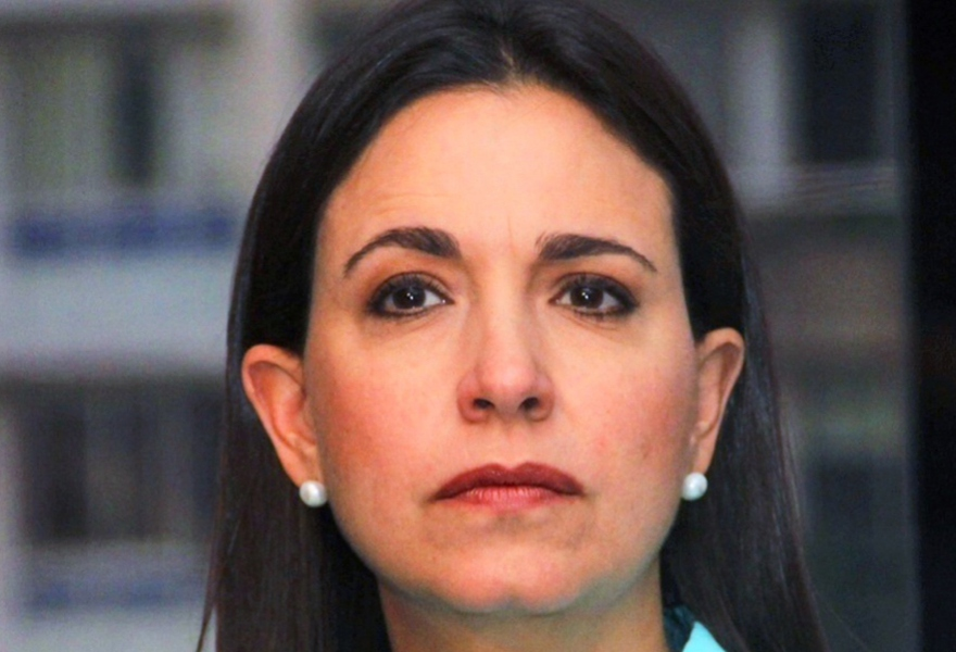 Hard-line opposition leader Maria Corina Machado (archive)