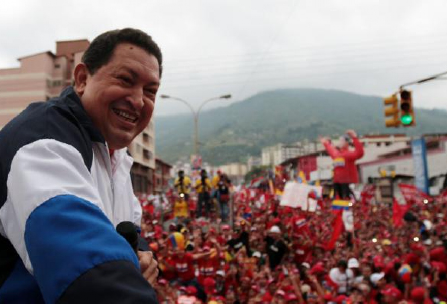 Hugo Chavez during the campaign for his reelection in October 2012 (archive)