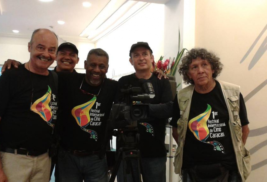 Some of the festival's organizers behind the scenes (Distrito Capital)