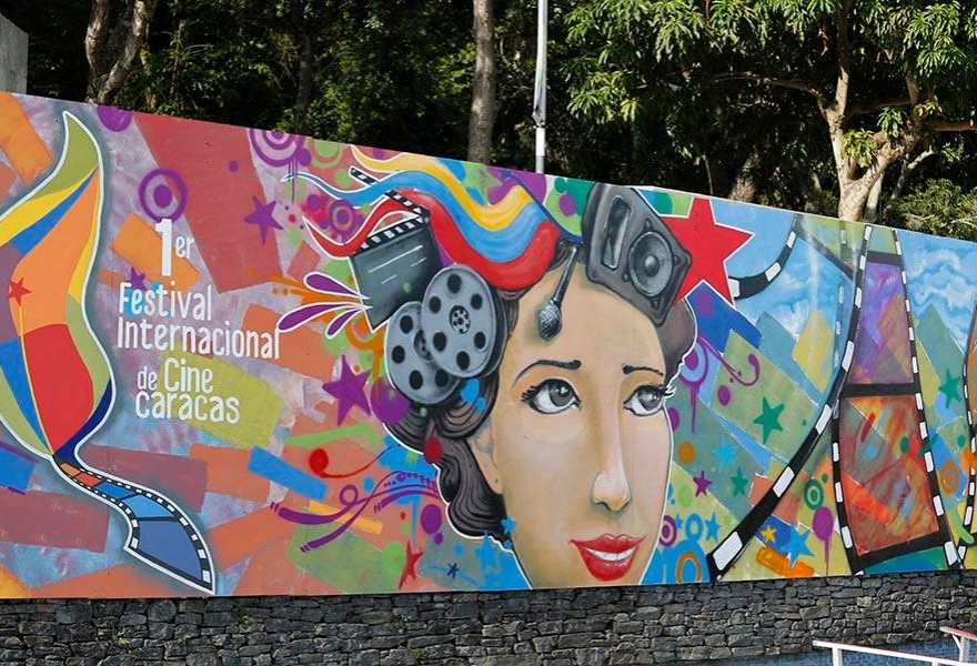 A mural was created to draw attention to the festival (FestCineCCS)