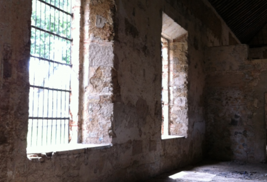 Inside the former San Carlos Prison.
