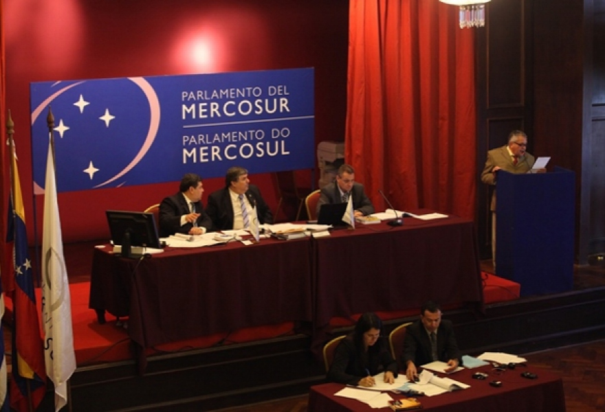 Parliament of Mercosur Summit in Uruguay on Monday. (Prensa AN)