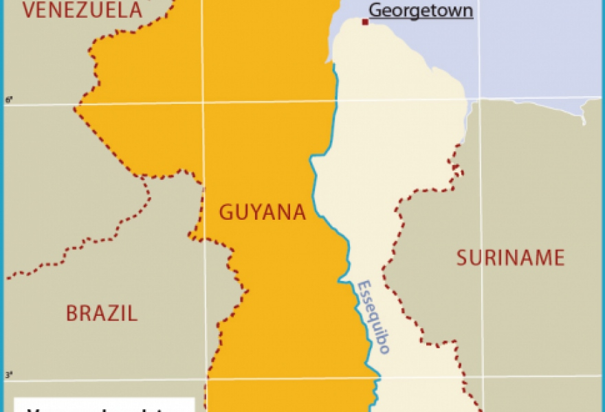 The disputed region is two-third of Guyana's national territory. (archives)