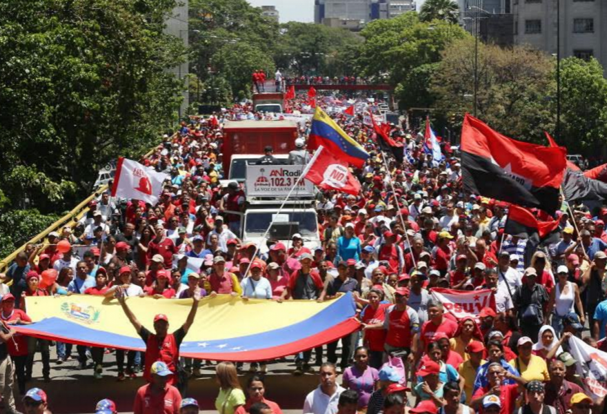 Tens of thousands turned out for the Chavista march (AVN - Gregorio Terán)