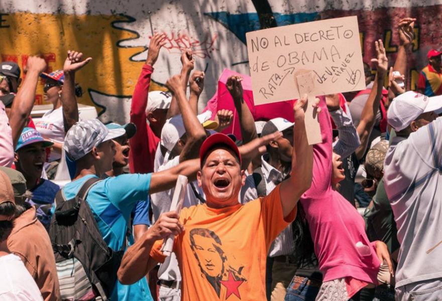 """No to the rat Obama's decree! Long-live Chávez"" (ALBA-TV)"