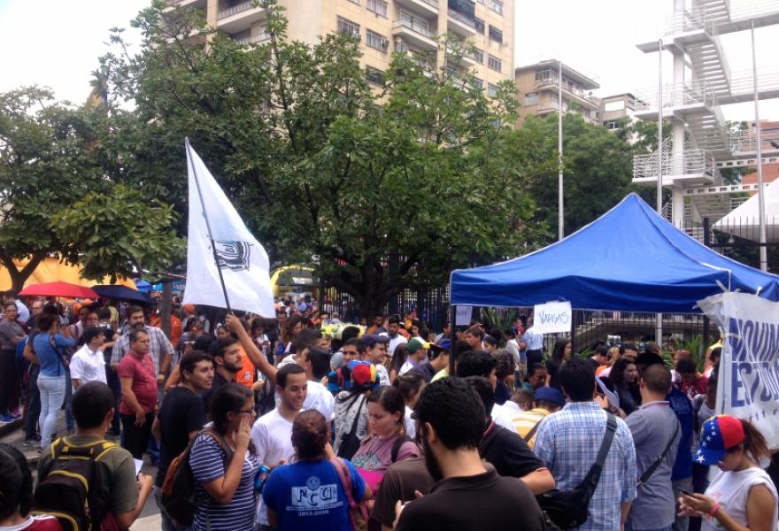 Plaza Brion at around 11am on Wednesday (Rachael Boothroyd Rojas/Venezuelanalysis)