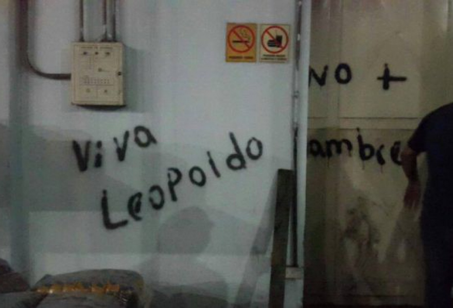 """Viva Leopoldo"" and ""no more hunger"". (AVN)"